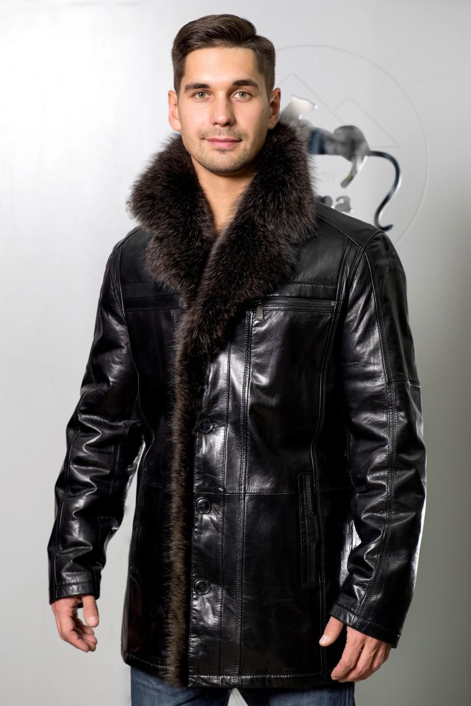 371c1feaa40 Куртка кожаная на овчине